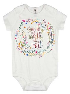 Rainbow Baby Onesie®, Some Things are Worth the Wait, Special Baby Gift, Rainbow Shower Gift, Pregnancy After Loss, Rainbow Baby Gift,