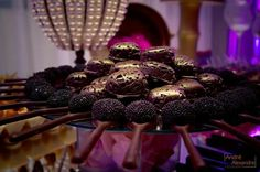 Doces com chocolate belga