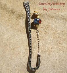 Bookmark with Fantastic Handmade Glass Bead  by JewelryArtistry, $12.98