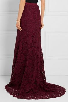 Oscar de la Renta | Cotton-blend lace maxi skirt | NET-A-PORTER.COM