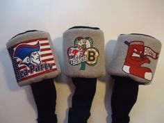 Up For Your Consideration  We are offering you an AWESOME NEW ENGLAND Golf Headcover PICK YOUR TEAM (( OR Pick The Clover Which Has All (4) Teams Bunched Together))  Choice Of: 460 Driver OR #1 Headcover Make choice from drop down menu above.  Makes a great COLLECTORS item  Surprise your sweetie with a special NEW ENGLAND headcover Size of necks are approx. 8-9 Long  Quality Cotton Fabric, Stiff inner foam, and lining  Any other questions PLEASE feel free to contact us anytime~!~  Made in…