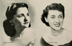 1940s-college-girl-hairstyles-1949 1940s Hairstyles, Hat Hairstyles, Sweeney Todd, 1940s Fashion, College Girls, Hair Inspiration, Pin Up, Hair Makeup, The Past