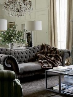 Very old Hollywood - Love this couch...its from Arhaus.  Beautiful!