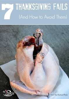 Don't let your Thanksgiving dinner be ruined! 7 common mistakes ... and how to avoid them! http://thestir.cafemom.com/food_party/164464/7_thanksgiving_dinner_fails_and?utm_medium=sm&utm_source=pinterest&utm_content=thestir