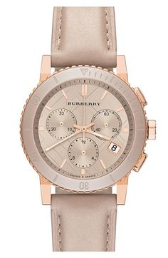 Burberry Check Stamped Chronograph Watch, 38mm available at #Nordstrom