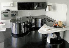 Exklusive Luxusküchen / italienische Designerküchen aus professionellem Edelstahl mit Echtholz - Ludwigsburg Stuttgart Heilbronn
