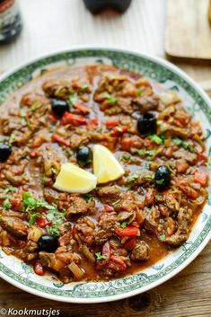 Healthy Slow Cooker, Healthy Crockpot Recipes, Beef Recipes, Cooking Recipes, Middle East Food, Middle Eastern Recipes, Tajin Recipes, Moroccan Stew, Morrocan Food