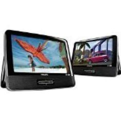 Philips PD9016P/37 LCD 9 Inches Dual Portable DVD Player Black Refurbished