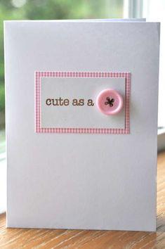 Baby cards hand made girl scrap trendy ideas Baby Girl Cards, New Baby Cards, Scrapbook Cards, Scrapbooking, Tarjetas Diy, Button Cards, Cricut Cards, Paper Cards, Greeting Cards Handmade