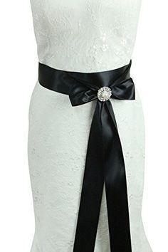 Lemandy ceinture de mariage soirée satin cristal 3 mètres…