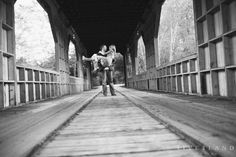 Romantic black and white engagement picture.