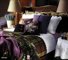 Tartan in the impeccable Ralph Lauren Style.( Purple and brown is very rich and welcoming..G.S.)