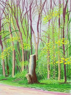 Annely Juda Fine Art | Exhibitions | David Hockney: The Arrival of Spring (2015).