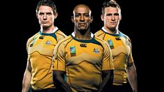 Australians Stephen Larkham, George Gregan and Matt Giteau, pictured before the…