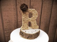Hey, I found this really awesome Etsy listing at https://www.etsy.com/listing/171819563/rustic-wedding-cake-topper-wooden-letter