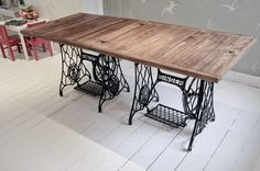 How to make a singer sewing machine dining table - with BBC correspondent Natalie Pirks