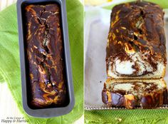 Eggless Vanilla & Chocolate Marble Loaf Cake (Made With Yogurt & Cocoa Powder)