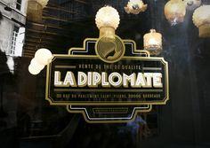 La Diplomate by Rice Creative, via Behance great art deco design.. going to be looking at more art deco inspirations
