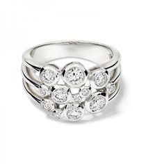 Cirkel Diamonds White Gold Ring