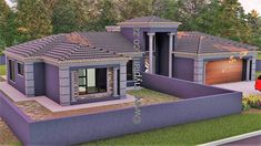 4 Bedroom House Plan – My Building Plans South Africa Round House Plans, Tuscan House Plans, Square House Plans, Metal House Plans, French Country House Plans, Modern House Plans, 6 Bedroom House Plans, 4 Bedroom House Designs, Porch House Plans