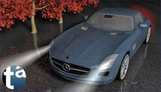 "501 - TAEVision 3D Mechanical Design Automotive ""NightTime Reflections"" MercedesBenz AMG SLS CentralPark NY NYC"