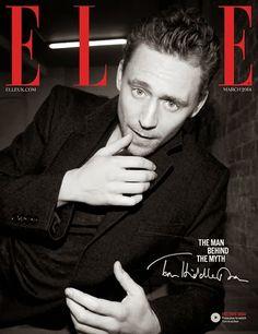 Tom Hiddleston en portada de ELLE UK Marzo 2014 | Male Fashion Trends