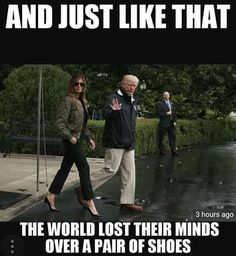 Her shoes look GREAT! As she does! Lovely first LADY.... GIVE CREDIT where credit is due. JEALOUS MEDIA!