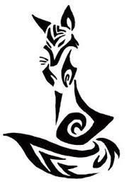 Imgs For > Tribal Fox Drawing Tribal Animal Tattoos, Tribal Drawings, Tribal Fox, Tribal Animals, Tattoo Animal, Geometric Tattoos, Star Tattoos, Body Art Tattoos, Sleeve Tattoos