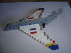 3D airplane hama beads by zoe94