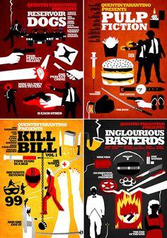 tarantino posters seriesby hexagonall+: click en la foto (including: jackie brown & death proof)