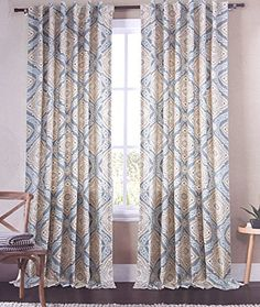 Envogue Window Curtains Birds Large Flowers By Inches