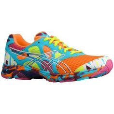 not joking, I actually really want these...ASICS® Gel - Noosa Tri 7 - Men's - Running - Shoes - Neon Orange/White/Turquoise