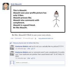 haikyuu!! + facebook