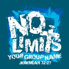 No Limits Youth Group T-Shirt Design