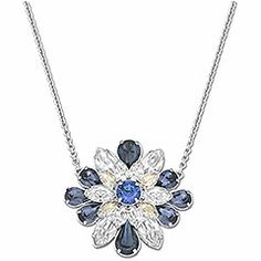 The Swarovski by Shourouk Round Blue Pendant is part of our Into the blue collection, available on www.swarovski.com