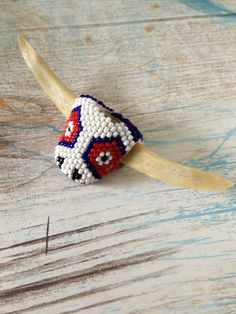Native American Bead and Bone Bolo by SylviasFinds on Etsy, $12.00
