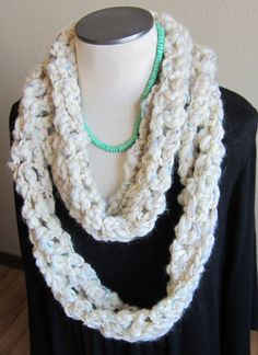 Crochet Cowl/Hooded Scarf Super Bulky Wool Yarn from by Kitkateden, $22.00
