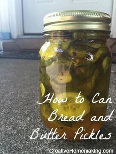 Easy instructions for how to can homemade bread and butter pickles.
