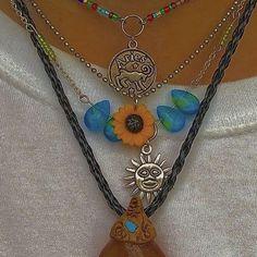 Hippie Jewelry, Cute Jewelry, Jewelry Accessories, Jewelry Necklaces, Estilo Indie, Estilo Hippy, Mode Hippie, Hippie Vibes, Look Hippie Chic