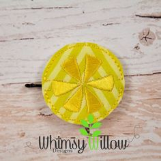 ITH Citrus Bobby Pin Buddie Embroidery Design