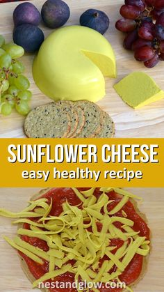 Sunflower Cheddar Cheese Sunflower Cheese Easy Vegan Cheese Recipe – made from sunflower seeds so cheap and with a cheesy dairy free taste from nutritional yeast. Easy recipe that is healthy and oil free - Delicious Vegan R Easy Healthy Recipes, Raw Food Recipes, Healthy Snacks, Easy Meals, Dinner Healthy, Vegan Recipes Nutritional Yeast, Nutritional Supplements, Recipes Dinner, Crowd Recipes