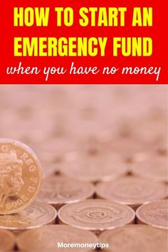 How can you start an Emergency Fund when you have no money? Use these tips to improve your finances now. #emergencyfund #personalfinance #moneymanagement #money