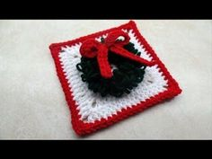 How To Crochet Christmas Wreath Granny Square Crochet Tutorial #441 - YouTube