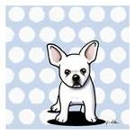 Beachy In Blue Bulldog by Kim Niles