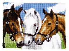 Buy Three Horses Chunky Cross Stitch Kit Online at www.sewandso.co.uk
