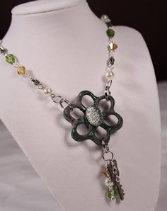 Green Water Faucet Necklace by myvioletwonderland on Etsy, $30.00