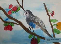 Art Contest Semifinalist, Grades K-2: Akikiki, Simran Bathla, Age 5.5, Silvercrest Elementary School