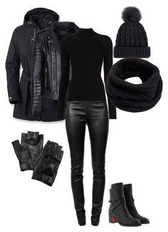 """Winter Biker Chic"" by espresso222 ❤ liked on Polyvore featuring Columbia, Alexander Wang, Misha Nonoo, Helmut Lang, Carolina Amato and Christian Louboutin"