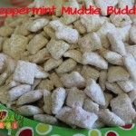 {Pin This} Ingredients 6 cups Rice Chex cereal 12 oz vanilla flavored almond bark coating 1 cup candy canes, finely crushed 1 1/2 cups powdered