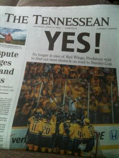 Preds make it to round 2!! finish the series 4-1 against Detroit!! woohoo